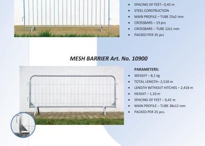 Pešačke barijere za privremeno ogradjivanje