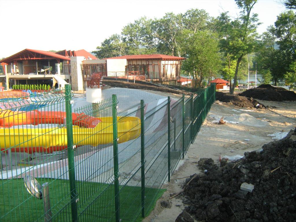 3D panelna ograda zelene boje