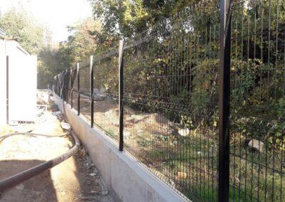 3d panelna ograda crne boje